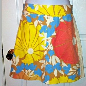 🌺 TRACY FEITH Floral A-Line Skirt Target Canvas